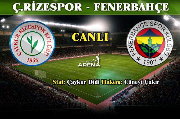 Çaykur Rizespor Fenerbahçe