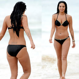 Siyah bikinili Tulisa...