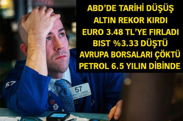 Euro tarihi zirveyi gördü, dolar kaç lira oldu, euro kaç lira oldu, Türk Lirası, altın, faiz, döviz, Çin, Borsa İstanbul, BIST 100, borsa, ayı piyasası, çeyrek altın kaç lira