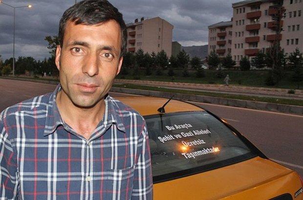 Erzurum,Taksi,Şehit aileleri,