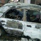 Alev topuna dönen araçtaki anne öldü, 2 oğlu yaralandı