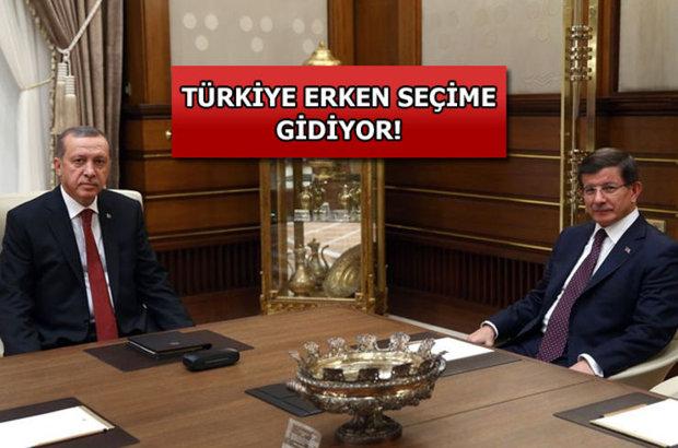 Cumhurbaşkanı Erdoğan ve Başbakan Davutoğlu görüşmesi