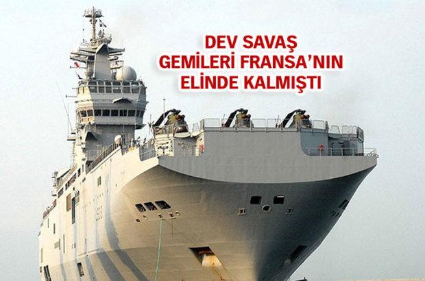 Fransa'nın, Rusya'ya teslim etmediği Mistral tipi savaş gemileri için Rusya'ya 900 milyon avro ödedi