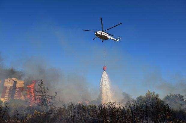 Antalya, Konyaaltı ilçesi Akkuyu ve Siteler Mahallesi,Orman yangını,
