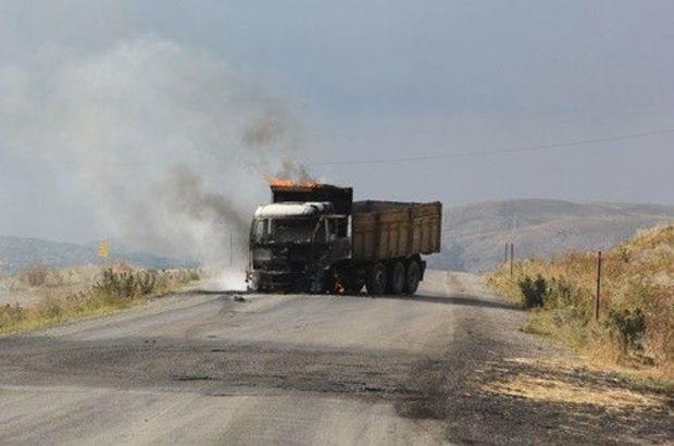Çaldıran-Doğubayazıt karayolu,PKK,Van, araç yakma,Tendürek Dağı,