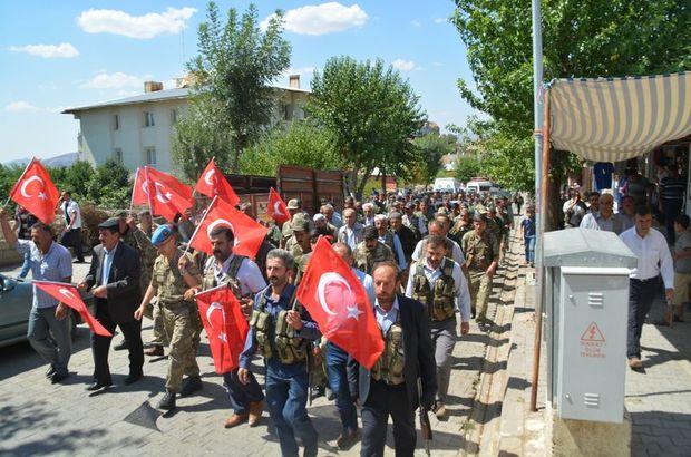 Siirt-Pervari karayolu,9 Şehit,PKK,teröre tepki yürüyüşü,