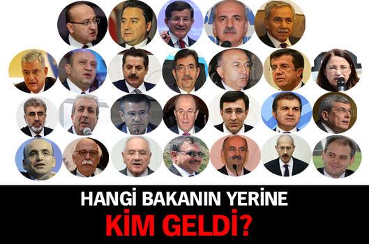Hangi bakanın yerine kim geldi?
