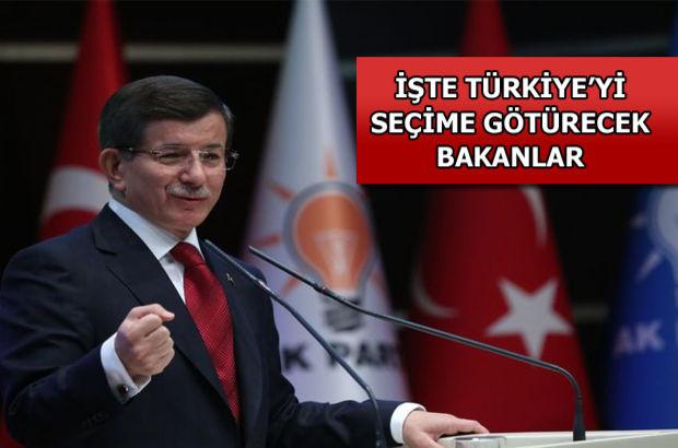 Başbakan Ahmet Davutoğlu, seçim hükümeti kabinesi