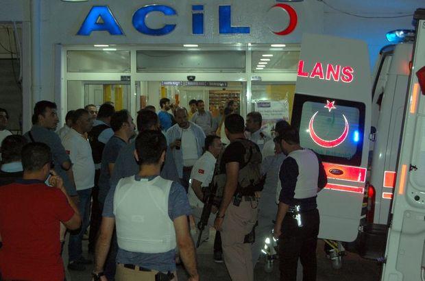 Şanlıurfa, Balıklıgöl Devlet Hastanesi'nden çıkan polise silahlı saldırı