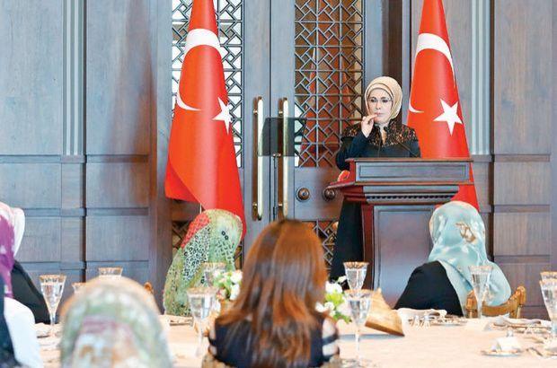 Emine Erdoğan köy korucularını kabul etti