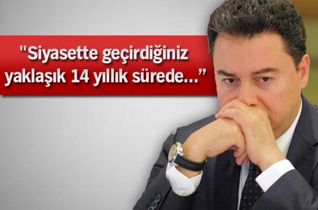 Ali Babacan'a sürpriz mektup...