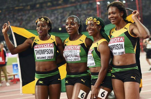jamaika 4x100 kadınlar bayrak yarışı