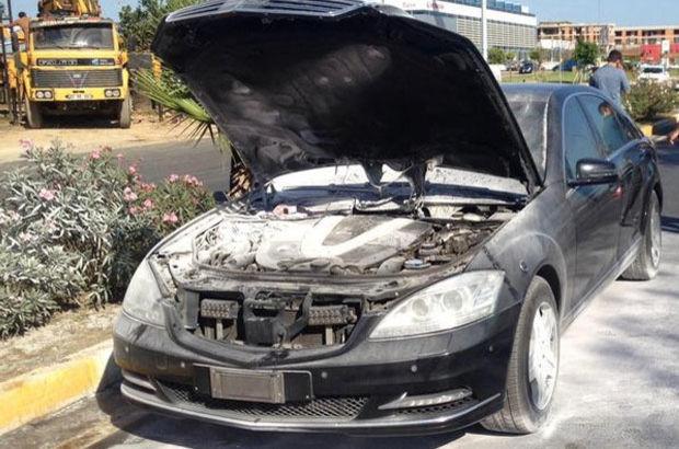 Çavuşoğlu'nun makam aracı motor bölümünden alev aldı