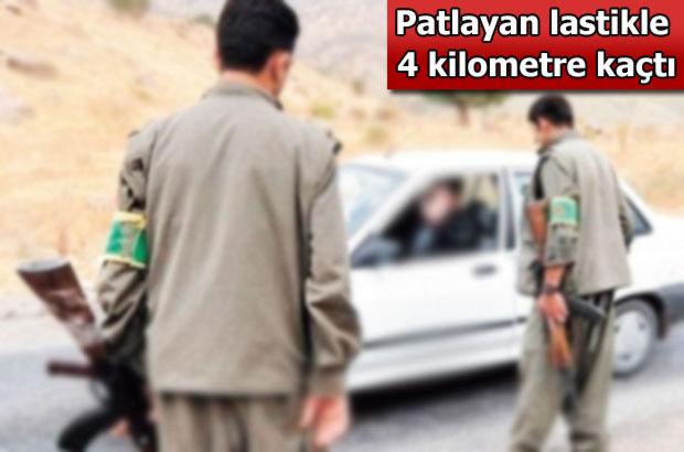 Erzincan, PKK yol kesince, geri dönen astsubay patlak lastikle 4 kilometre kaçıp kurtuldu