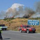 İzmir'in Aliağa ilçesinde orman yangını!