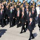 Tuğrul Türkeş, Yalçın Topçu ve HDP'li bakanlar da kortejde