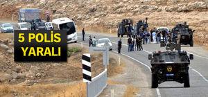 Şırnak'ta polis servisine bombalı saldırı