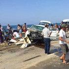 Hatay'da lastiği patlayan otomobil dehşet saçtı: 4 yaralı