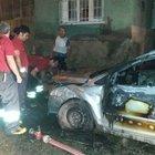 Diyarbakır'da otomobil ateşe verildi