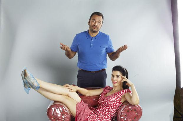 Ali Sunal ve Hatice Şendil'den galoşlu çekim