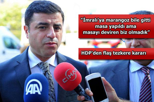 Demirtaş'tan Levent Tüzel açıklaması