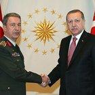 Cumhurbaşkanı Erdoğan Genelkurmay Başkanı Hulusi  Akar'ı kabul etti