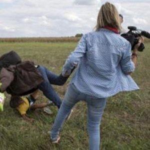 Mülteciye çelme takan kameraman hakkında soruşturma