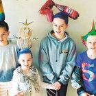 Okulda yeni moda 'çılgın saç günü'