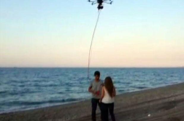 Drone ile evlenme teklif etti