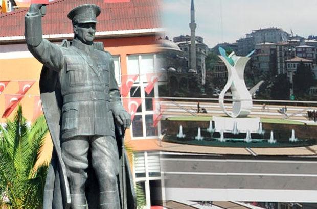 Rize, Atatürk heykeli