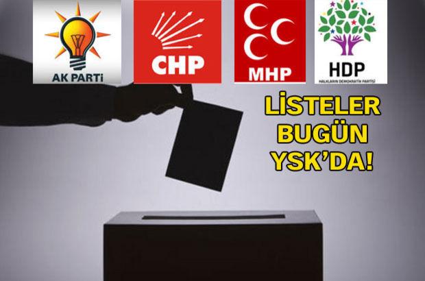 Partilerin aday listelerinde 1 Kasım sürprizleri