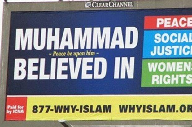 ABD'de İslamafobya'ya karşı bilboardlu kampanya