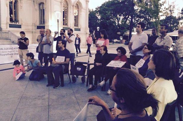 Validebağ gönüllüleri, 'Eşkıya Dünyaya Hükümdar Olmaz' dizisinin Validebağ'daki setine giderek eylem yaptı