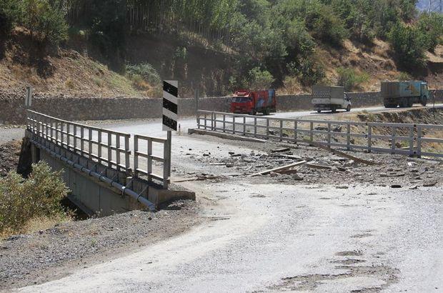 PKK Şemdinli'de köprüyü patlattı