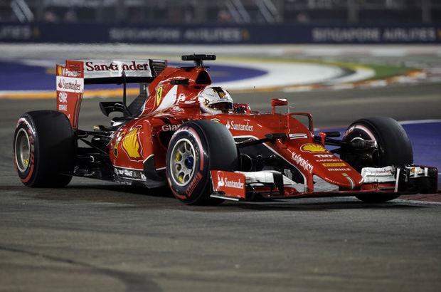 Formula 1 Dünya Şampiyonası'nda sezonun 13. yarışı Singapur Grand Prix'sine, Ferrari'nin Alman sürücüsü Sebastian Vettel ilk sırada başlayacak