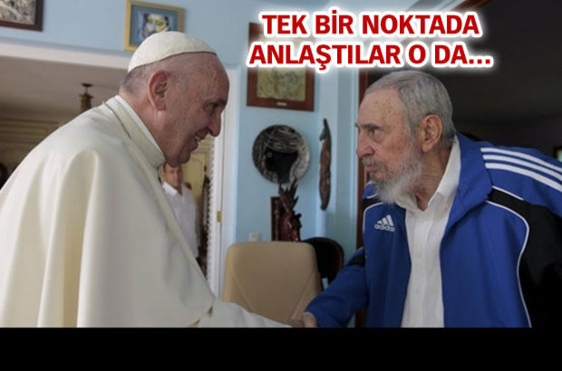 Papa Castro'larla tanıştı
