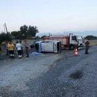 Otomobil devrildi: 2 ölü, 2 yaralı