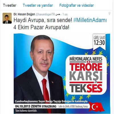 Cumhurbaşkanı Erdoğan 4 Ekimde Teröre Karşı Tek Ses mitingine katılacak 17