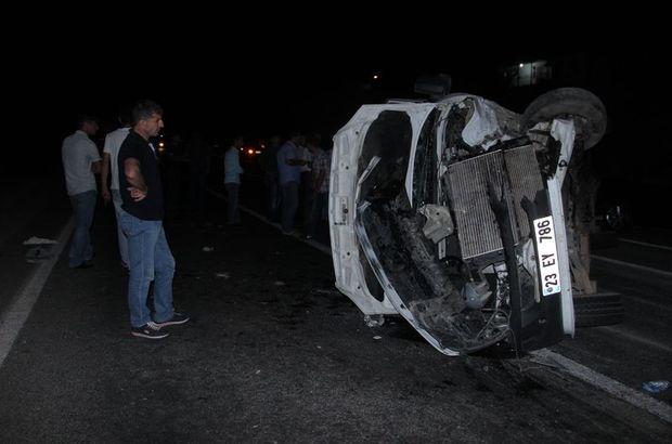 Elazığ'da feci kaza: 15 yaralı