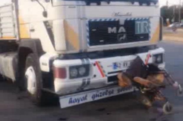 Konya'da tır tekerlekli sandalyeli gence çarptı!