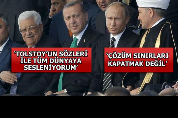 Cumhurbaşkanı Erdoğan Moskova Merkez Camii'nin açılışında konuştu