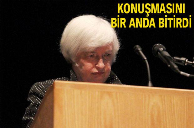 Fed Başkanı Yellen öksürük krizine girdi!