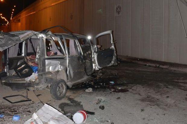 Otomobil altgeçite uçtu: 3 ölü