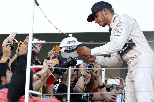Formula 1 Dünya Şampiyonası'nda sezonun 14. yarışı Japonya Grand Prix'sini, Mercedes'in Büyük Britanyalı sürücüsü Lewis Hamilton kazandı