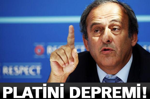 UEFA Başkanı Michel Platini'nin başkanlığının düşeceği iddia edildi