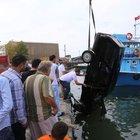 Park etmeye çalıştığı otomobiliyle denize düştü