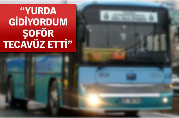 Halk otobüsünde tecavüz iddiası