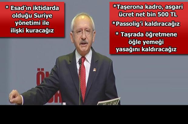 Kemal Kılıçdaroğlu CHP'nin 1 Kasım seçim bildirgesini açıkladı