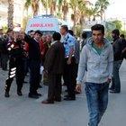 Mersin'deki yol kapatma eylemi