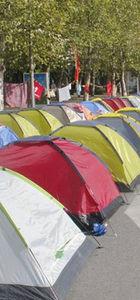 Karadağ'da çadırlı protesto
